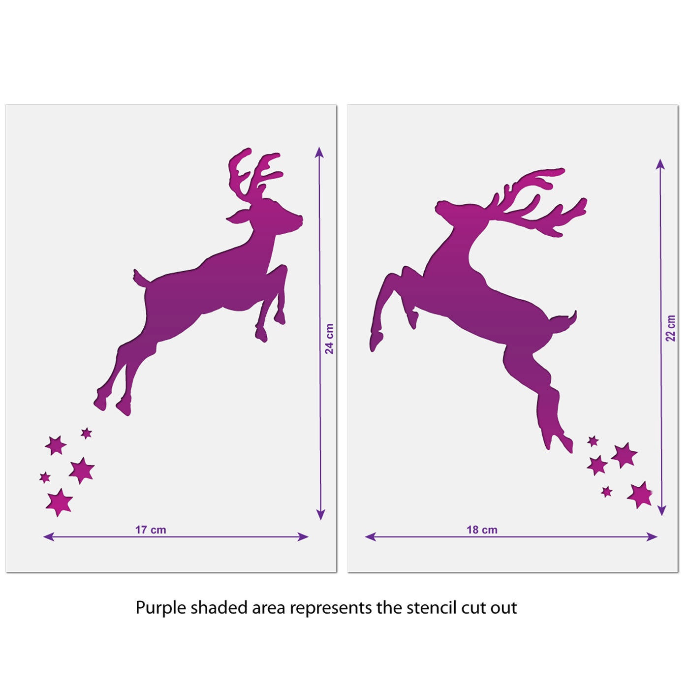 CraftStar Reindeer Stencils - Sizes