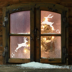 CraftStar Reindeer Stencils on Window