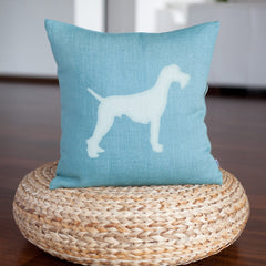 CraftStar Large Schnauzer Dog Stencil on Cushion