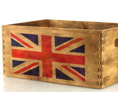 CraftStar Union Jack Stencil on Wooden Box
