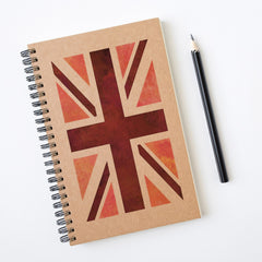 CraftStar Union Jack Stencil on Notebook