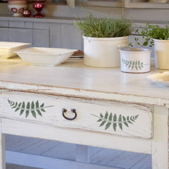 CraftStar Fern Frond Stencil on Drawer Front