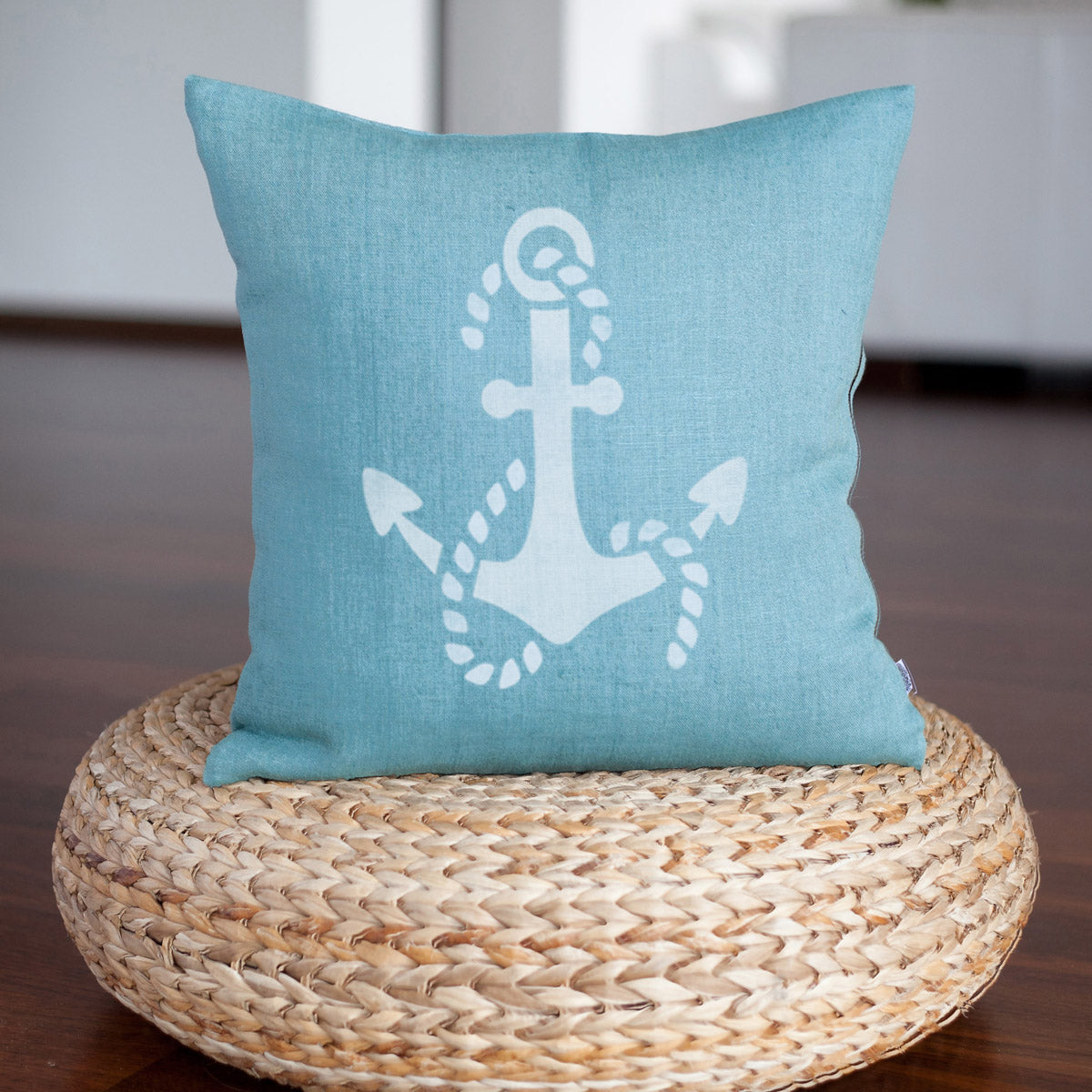 CraftStar Anchor Stencil on Cushion