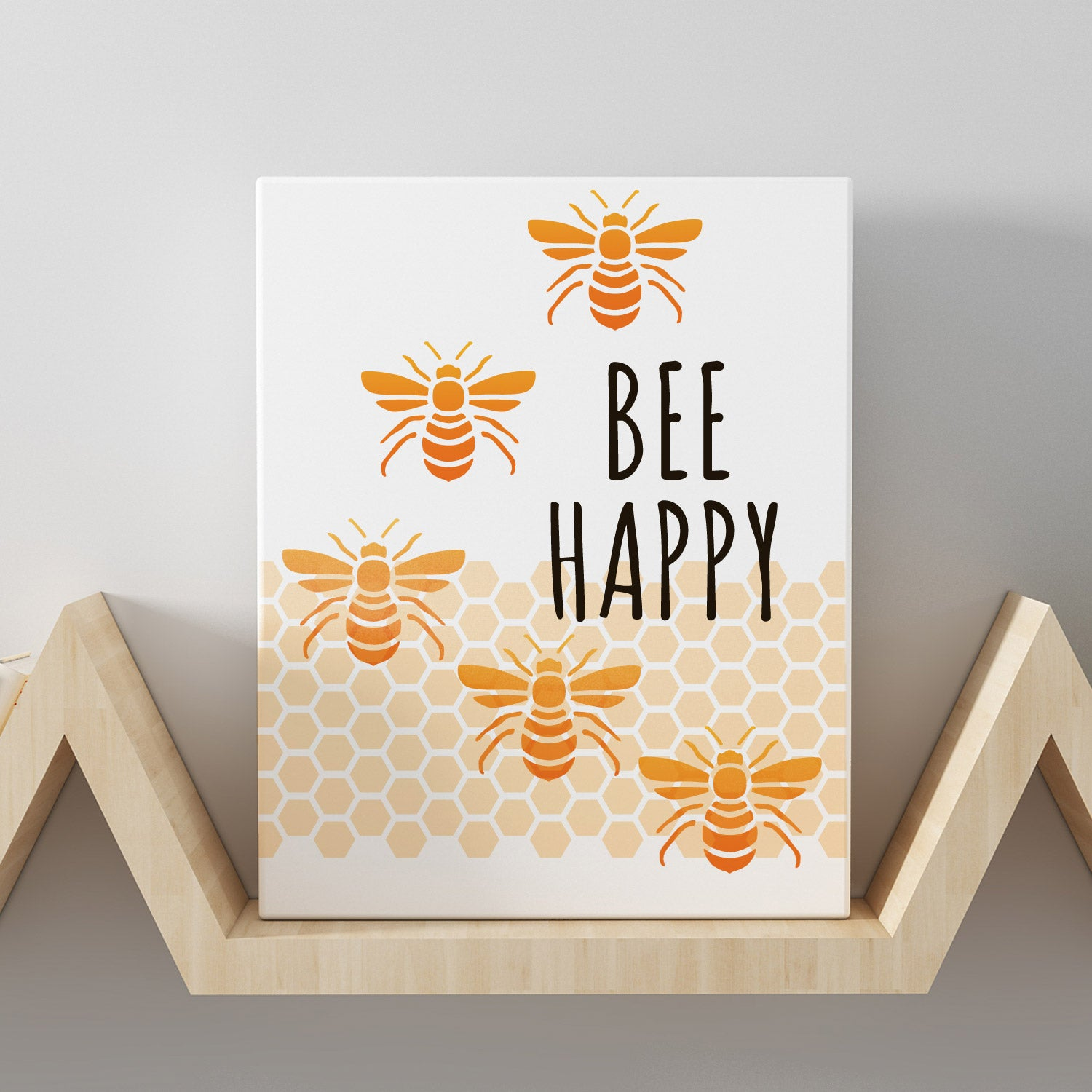 CraftStar Bee and Honeycomb Stencil Set on Canvas Print
