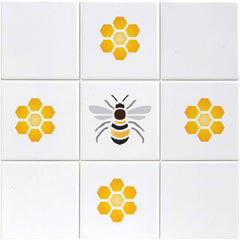 CraftStar Bee and Honeycomb Stencil Set on Tiles