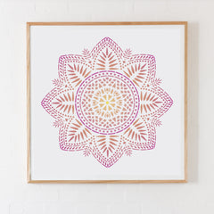 CraftStar Bliss Mandala Stencil as framed print