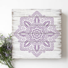 CraftStar Bliss Mandala Stencil on Wooden Plaque