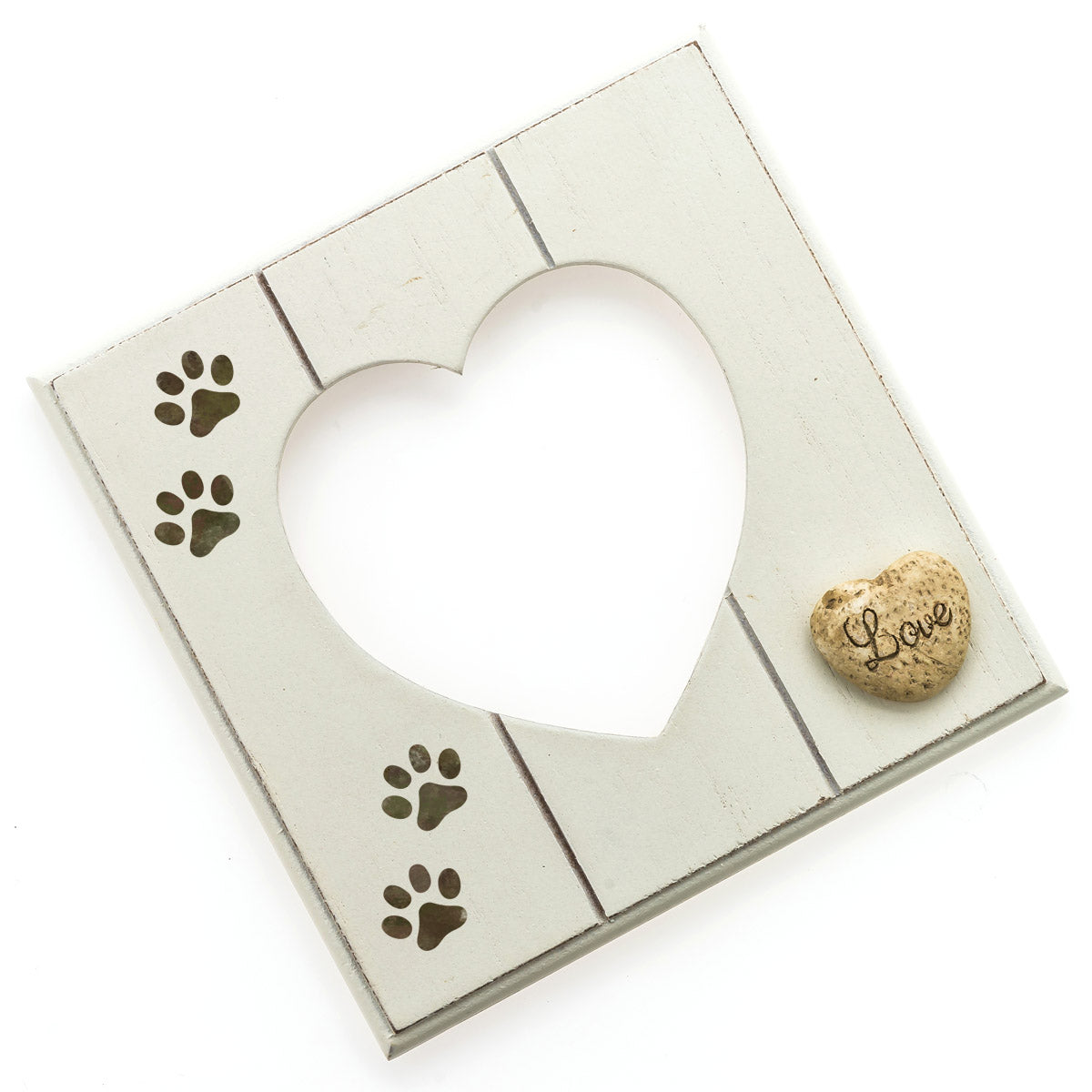 CraftStar Dog Paw Print Stencil on Picture Frame