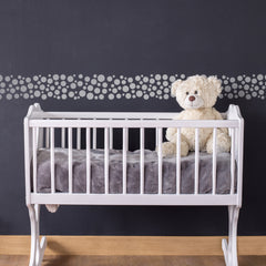 CraftStar Bubbles Border Stencil on Nursery Wall