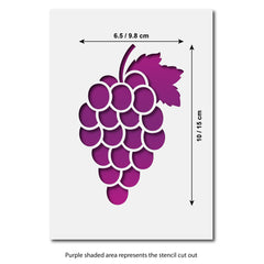 CraftStar Bunch of Grapes Stencil Size Guide