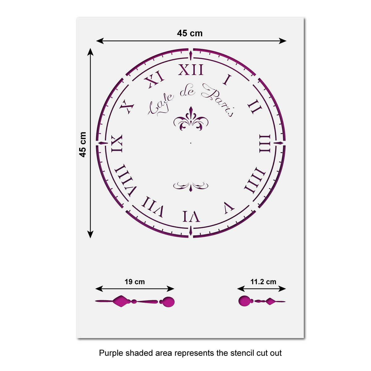 CraftStar Cafe De Paris Large Clock Stencil - A1 Size