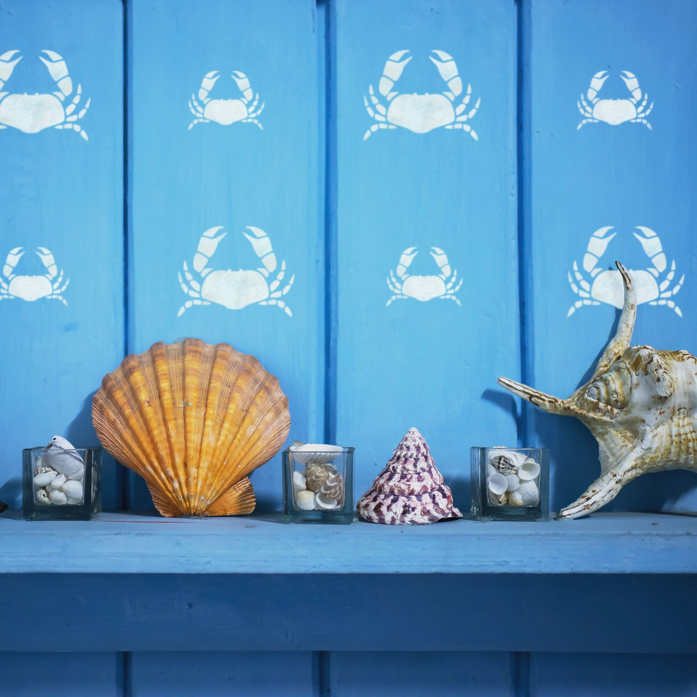 Craftstar Crab Stencils in beach hut