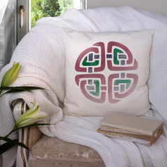 CraftStar Celtic Knot Wall Stencil on Fabric Cushion