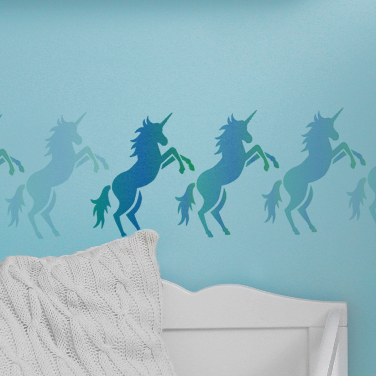 CraftStar Prancing Unicorn Stencil on Wall