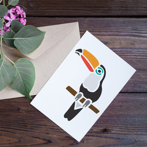 CraftStar Toucan Stencil on card