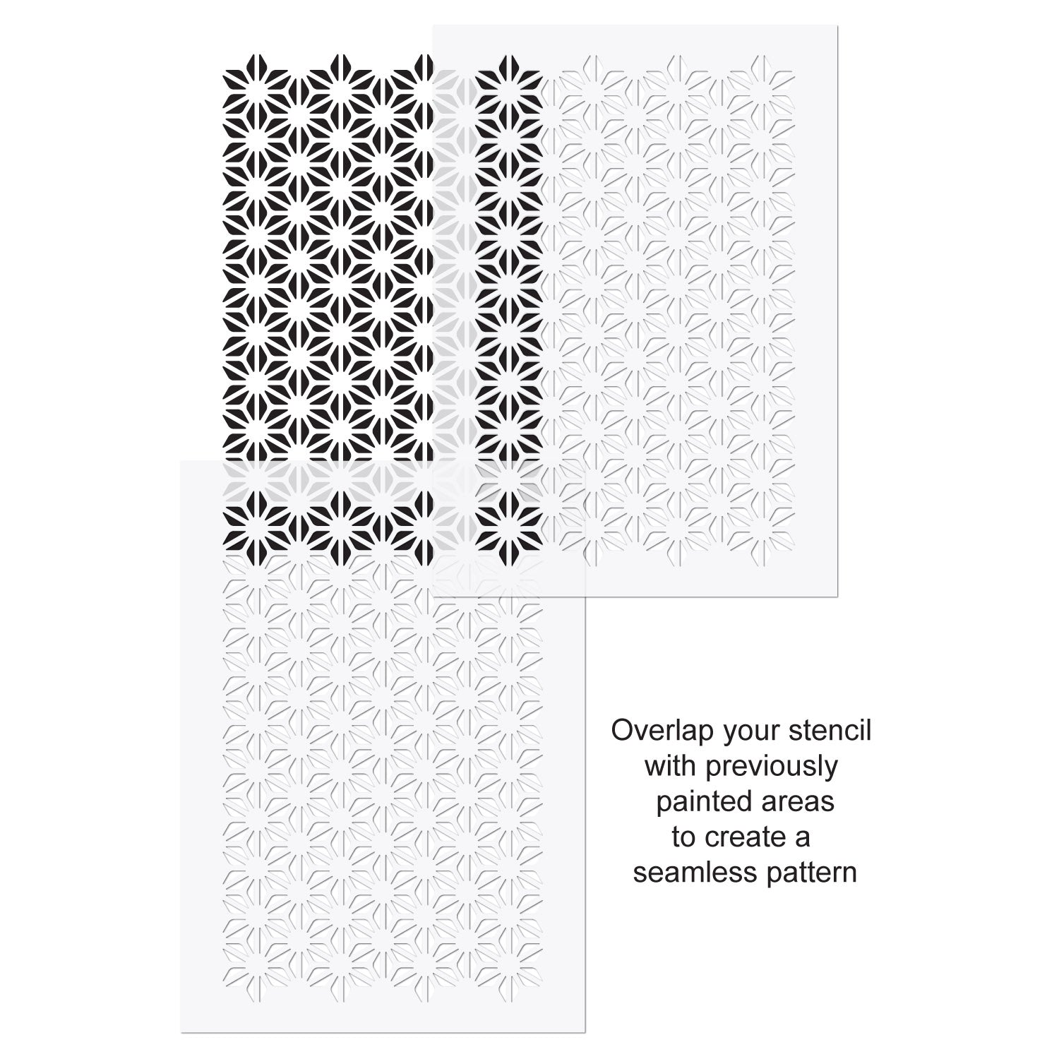 CraftStar Asanoha Pattern Stencil Use Guide