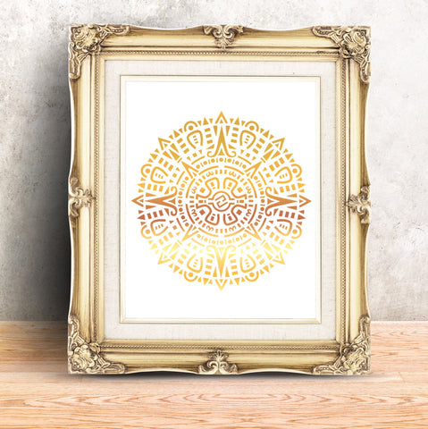 CraftStar Aztec Mandala Stencil as a framed image