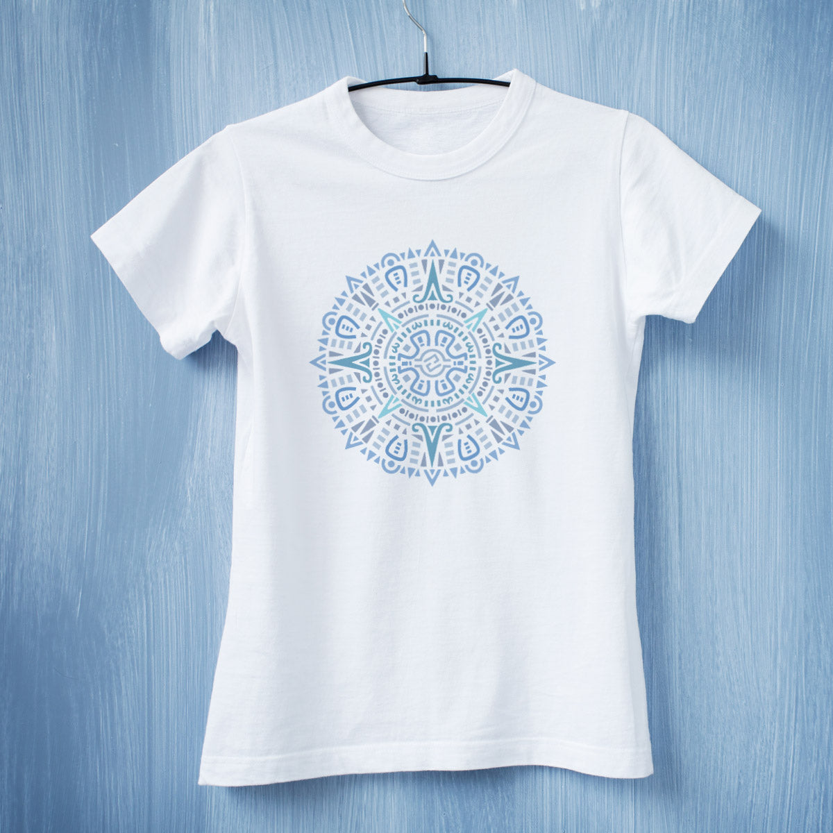 CraftStar Aztec Mandala Stencil on T shirt