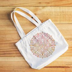 CraftStar Aztec Mandala Stencil on fabric