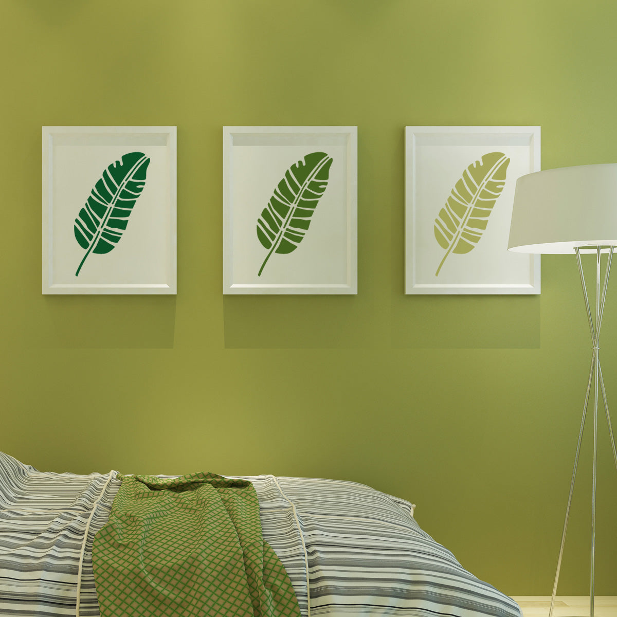 Awesome Mosaic Palm Leaves Wall Decor Sketch - Wall Painting Ideas ...