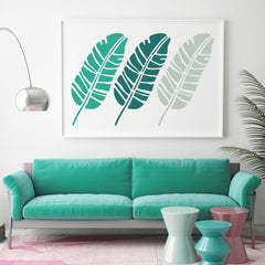 CraftStar Large Banana Leaf Stencil in large Frame