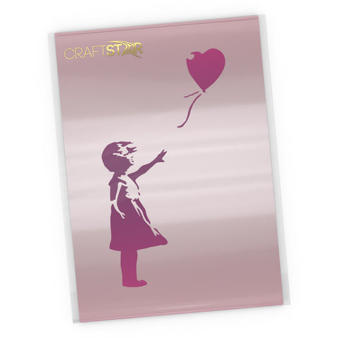 Banksy Balloon Girl Stencil - Craft Template