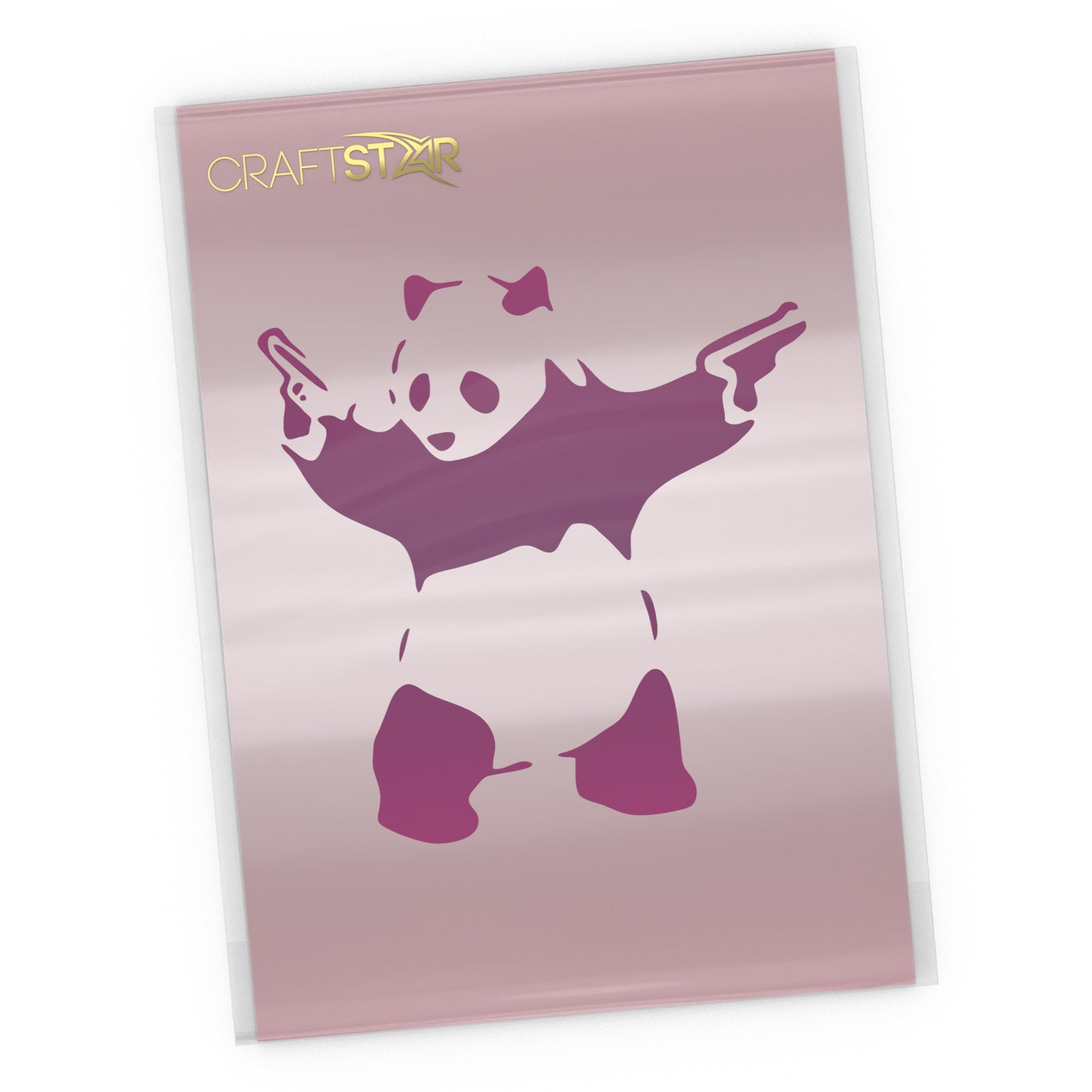 Banksy Panda Stencil - Craft Templates