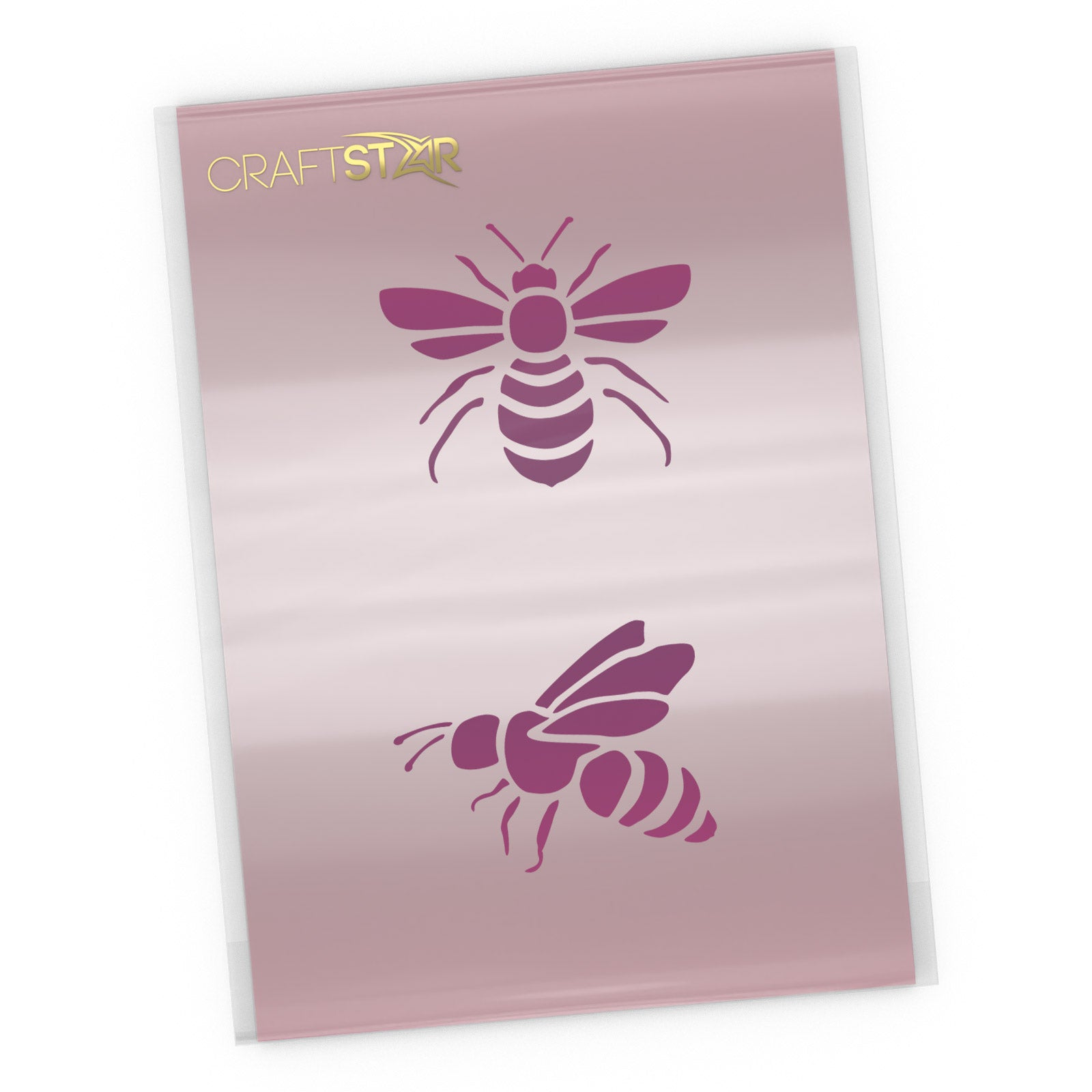 Bees Stencil - Bee Craft Template