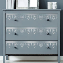 CraftStar Bindu Border Stencil on Furniture