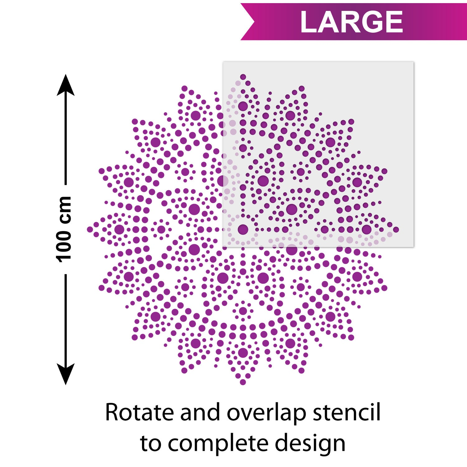 CraftStar Bindu Mandala - Size Guide - Large