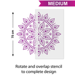 CraftStar Bindu Mandala - Size Guide - Medium