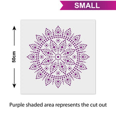 CraftStar Bindu Mandala - Size Guide - Small