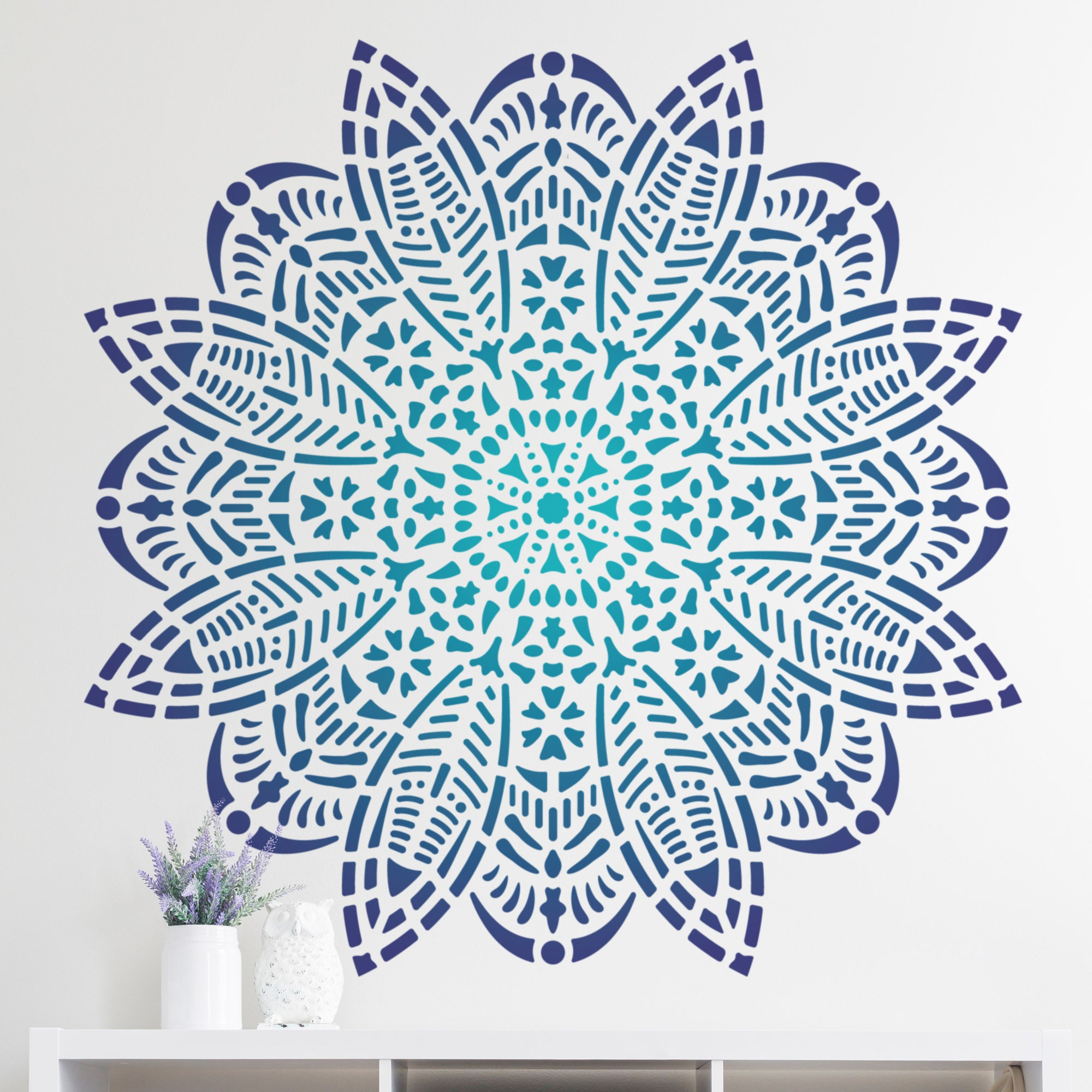 CraftStar Bloom Mandala Wall Stencil