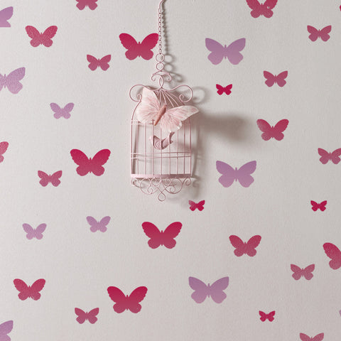 CraftStar Butterfly Stencil Set on Wall