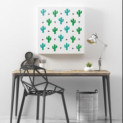 Cactus Pattern Wall Stencil - Allover Stencil Template