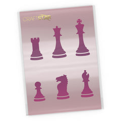 Chess Pieces Stencil Set