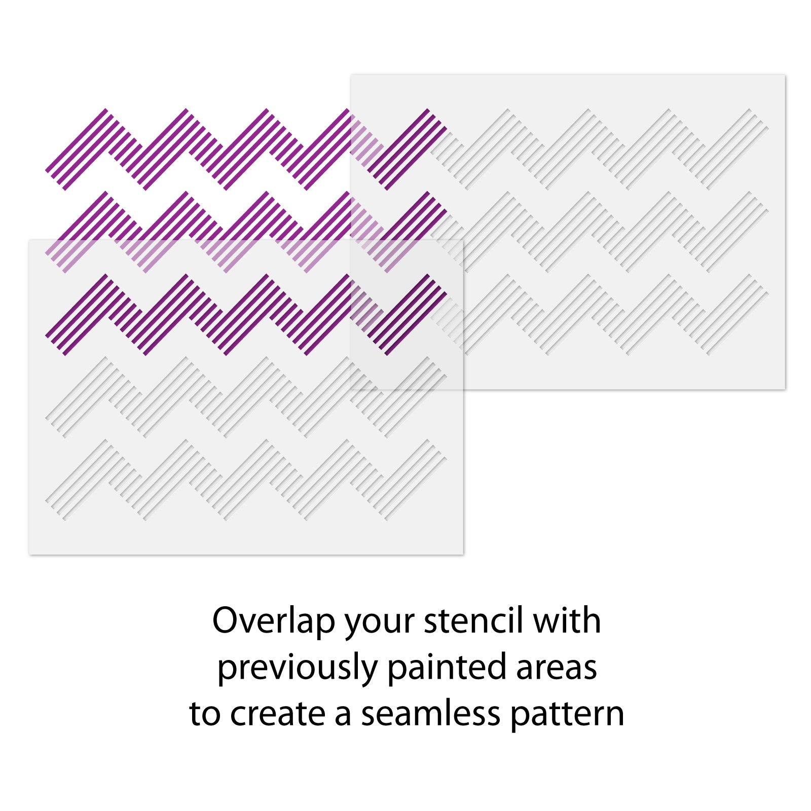 Chevron Wall Stencil - Geometric Line Pattern