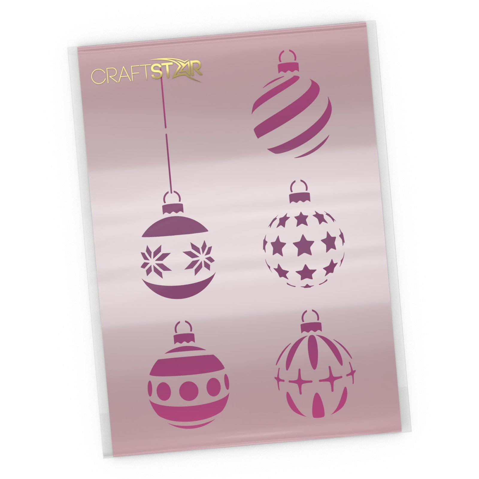 Christmas Baubles Stencil Set - Festive Craft Templates