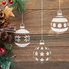 CraftStar Christmas Baubles Stencil Set - Paint on Wood