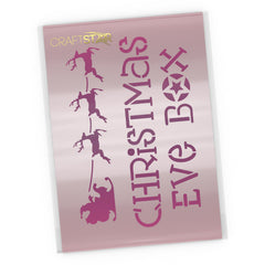Christmas Eve Box Stencil - Craft Template