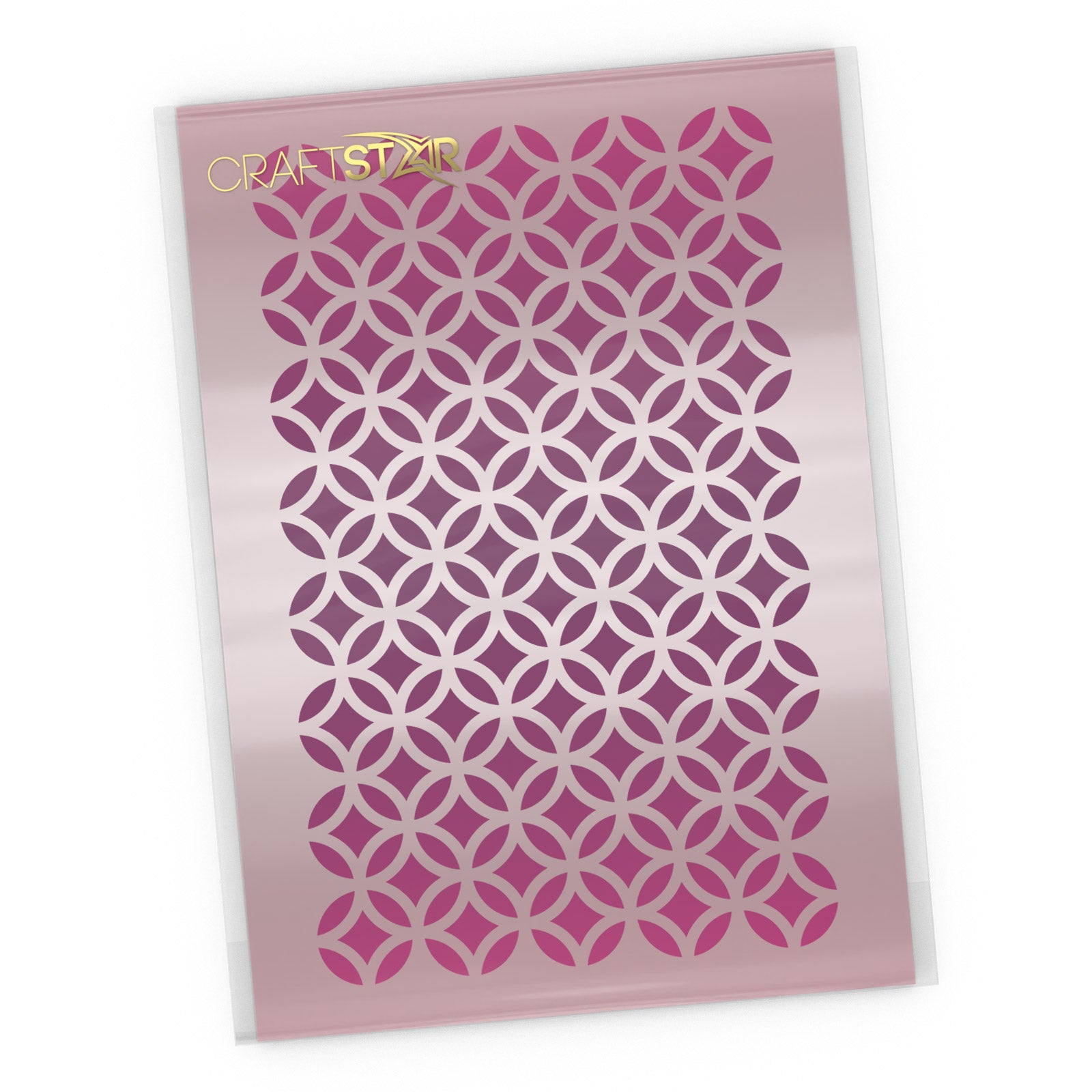 Circle & Diamond Pattern Stencil - Moorish Pattern Craft Template
