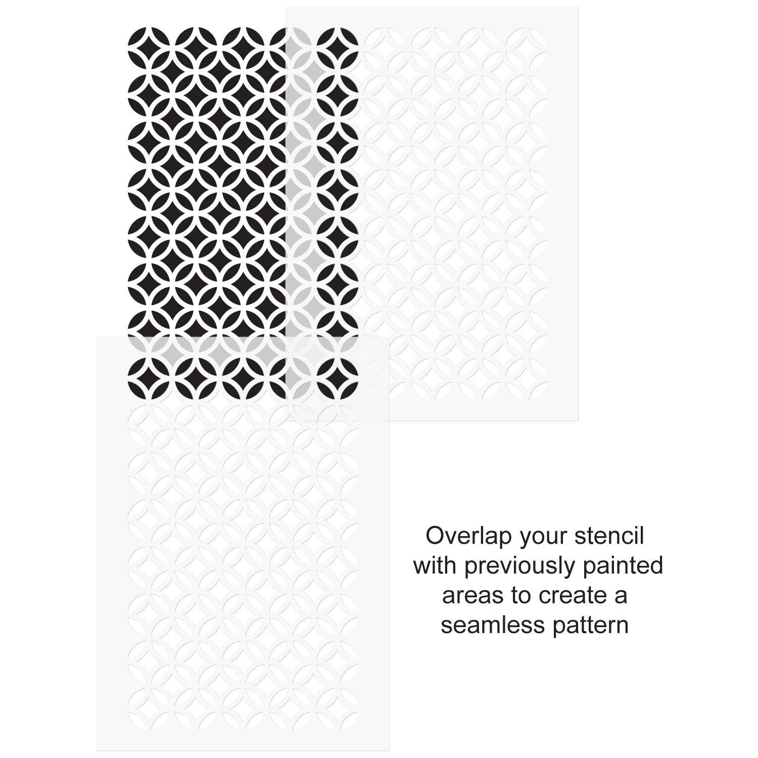 CraftStar Circle and Diamond Pattern Stencil use guide