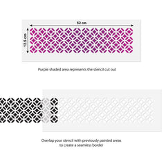 CraftStar Moorish Pattern Border Stencil Use Guide