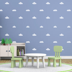 CraftStar Clouds Stencil Set in Nursery / Playroom