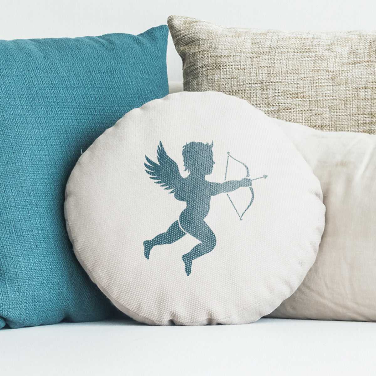CraftStar Cupid Stencil on Cushion