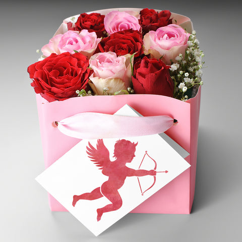 CraftStar Cupid Stencil on Gift Card