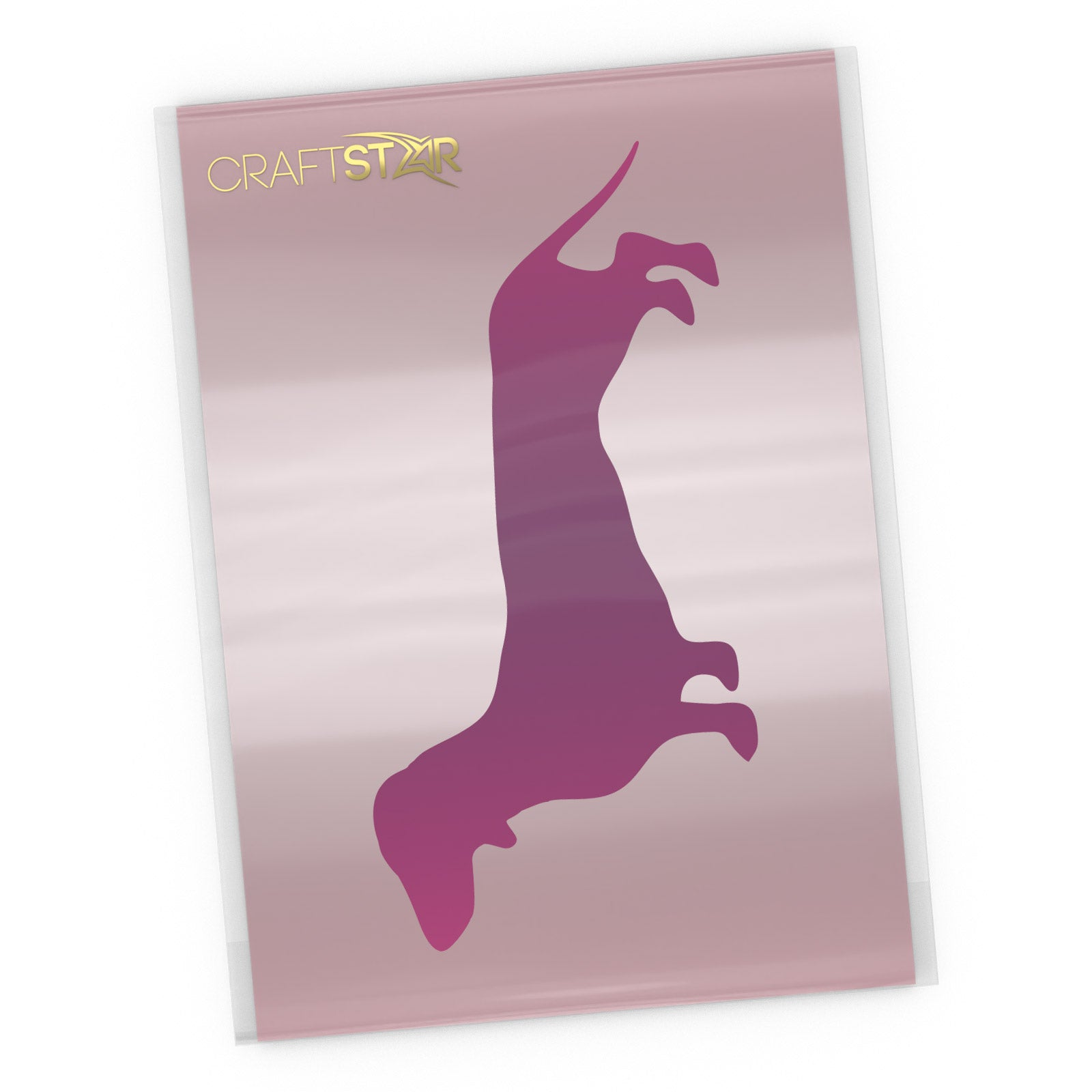 Dachshund Dog Stencil - A4 Craft Template