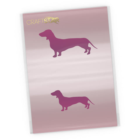 Dachshund Dog Stencil Set - Craft Template