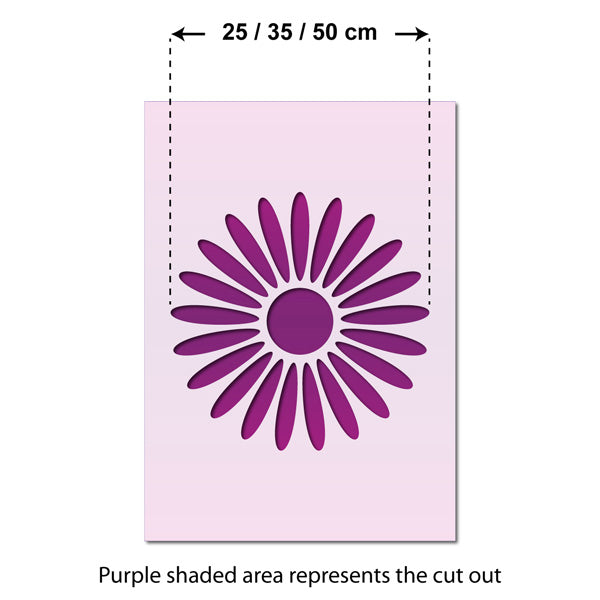 CraftStar Large Daisy Stencil - Size Guide