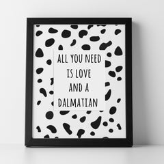 CraftStar Dalmatian Print Stencil as a framed picture